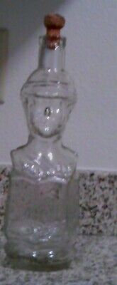 Napoleon Soldier Glass Bottle Vintage Collectible  Engraved Made in Italy