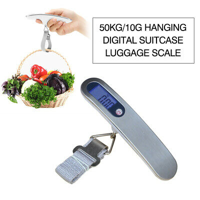 Electronic Portable Luggage Hanging Travel LCD Digital Scale Weight Tool 50KG
