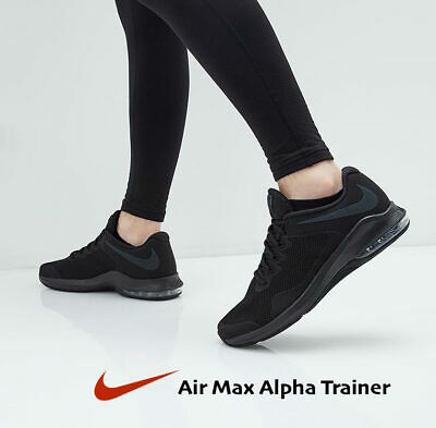 Nike Air Max Alpha Trainer Men's Training Gym Shoe AA7060-009 Black size 15