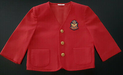 VINTAGE 1960's BABY / TODDLER'S RED 'ROYAL EAGLE'JACKET MADE IN USA