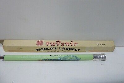Vintage Worlds Largest Mechanical Pencil Pen Sydney Harbour Bridge Souvenir