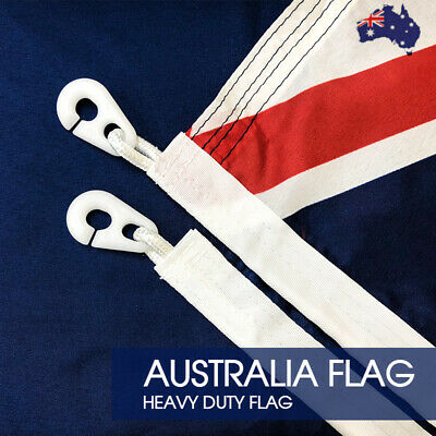 HEAVY DUTY Australian Flag Size 1800x900 With Polyester Sister Clips