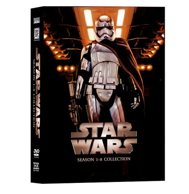 Star Wars Saga The Complete Episodes 1- 8 DVD Collection (14-dvd) Sealed