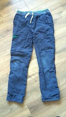 MINI BODEN BOYS Jersey Lined CARGO PANTS TROUSERS AGE 12 YRS