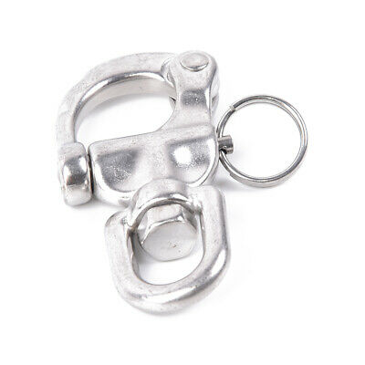 """Snap Swivel 316 Stainless Steel Shackle 87mm//3.42/"""" Length Marine Hardware Silver"""