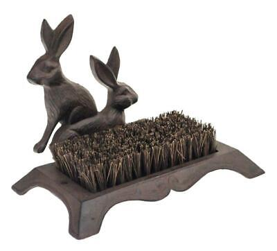 Rustic Cast Iron Hare Design Wellington Wellies Boot Shoes Mud Cleaner Brush