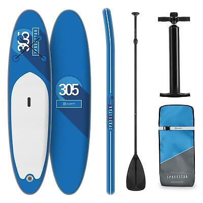 Tabla para surf de pala hinchable Set de tabla para SUP 305 x 10 x 77 Azul