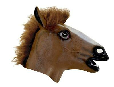Brown Horse Head Mask Costume Accessory