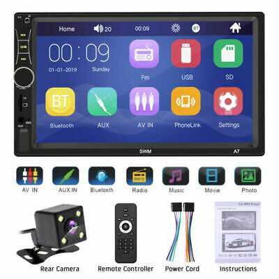 "7"" Inch Car Stereo Radio HD Mp5 Player Touch Screen Bluetooth Radio 2din&Camera"