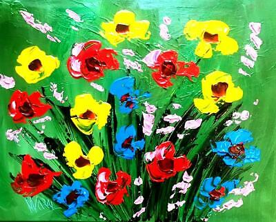 MARK KAZAV FLOWERS IMPRESSIONIST IMPASTO oil painting  made shipped from Canada