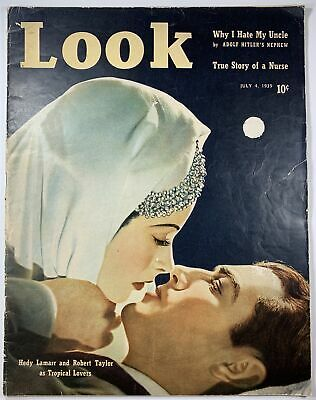 LOOK 7/4/39 Adolf Hitler HEDY LAMARR Robert Taylor STOCKINGS Sexy LEGGY Pin-Up
