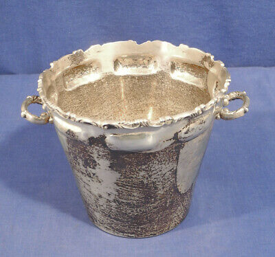 """Vtg Sterling Silver Ice Bucket M.R.M. Hecho en Mexico D.F. 5.5"""" x 6.5"""" 17.46 TO"""