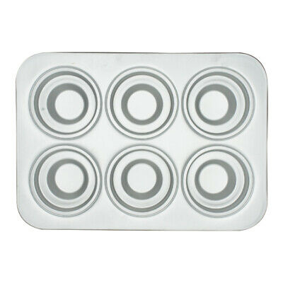 Anodized 6 Crown Cup Muffin Pan - Hot Stuff Bakeware