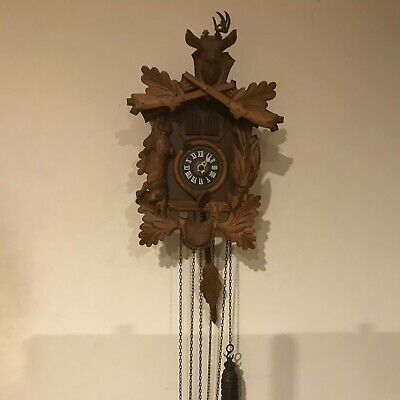 Cuckoo clock three train musical Black Forest