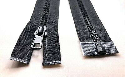 Black Chunky No.5 Plastic Zipper Open & Closed End Zip (from 10 cm to 500 cm)