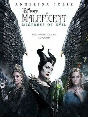 Maleficent 2 Mistress of Evil DVD - FREE SHIPPING - ANGELINA JOLIE