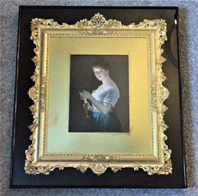 Exquisite Irish Antique Large Ornate Gilt Rococo Inlaid Frame C 1880+
