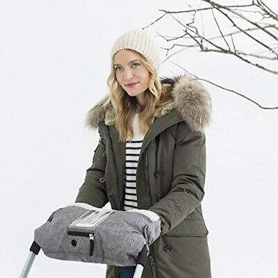Skip Hop Stroll-and-Go Three-Season Hand Muff, One Size, Heather Grey