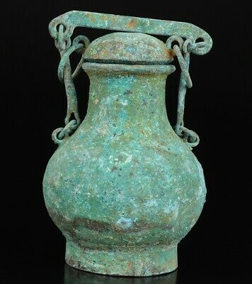 Rare Old China Bronze Pot Antique Home Decoration Gift Pendant Coll