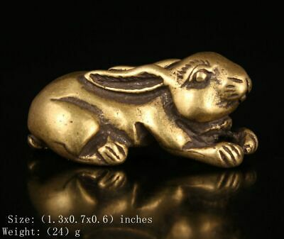 Chinese Bronze Statue Pendant Tiger Mascot Decorative Gift Old Collection