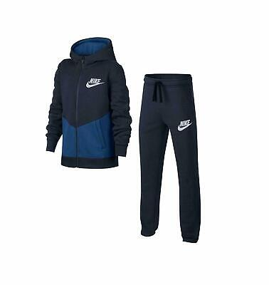 Nike Boys Tracksuit BF Core Sportswear Navy Blue Full Set 10-12_12-13 Yrs