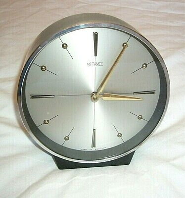 Rare Collectible METAMEC 8 DAY WIND UP CLOCK 60'S *Made in England*