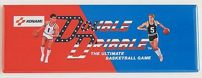 Double Dribble Marquee FRIDGE MAGNET arcade video game header basketball