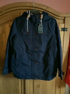 JOULES WOMENS COAST WATERPROOF COAT JACKET IN FRENCH NAVY Size 14