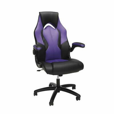 Ofm Essentials Collection High-Back Racing Style Bonded Leather Gaming Chair, In