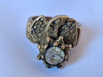 Ancient Vintage-Antique Berber Ring Bronze Old Stuning Stone Extremely Rare Ring