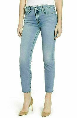 9C62 NEW ($199) 7 For All Mankind Roxanne Raw Hem Ankle Slim Jeans Womens Sz 27