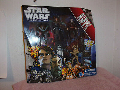 "NEW STAR WARS THE CLONE WARS  ULTIMATE GIFT SET"" 5 ACTION FIGURES by HASBRO.2011"