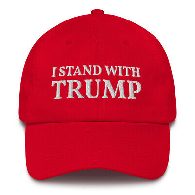 Pro Donald Trump 2020 I Stand With Trump Red MAGA Hat Made In USA