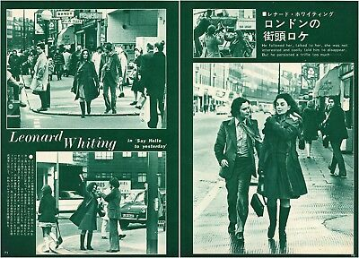LEONARD WHITING JEAN SIMMONS Say Hello to Yesterday 1970 Japan Clippings #MA/R