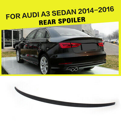 Unpainted PU Rear Spoiler Wing Lip Factory Fit For Audi A6 C6 Sedan 2005-2011
