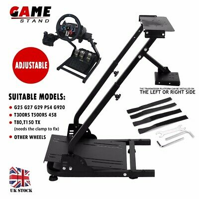 Adjustable Steering Wheel Game Stand Racing Wheel & Shifter For Logitech G29 G25