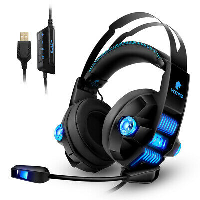 Gaming Headset Stereo Surround Headphone Wired USB MIC For Laptop PC Macbook