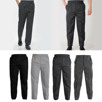 Professional Unisex Chef Waiter Trousers Pants Kitchen Hotel Cafe Uniforms
