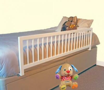Safetots Extra Wide Wooden Bed Rail, White white