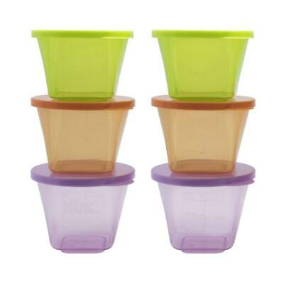 Annabel Karmel by NUK Baby Food Storage Containers, 6Pots, Multicoloured