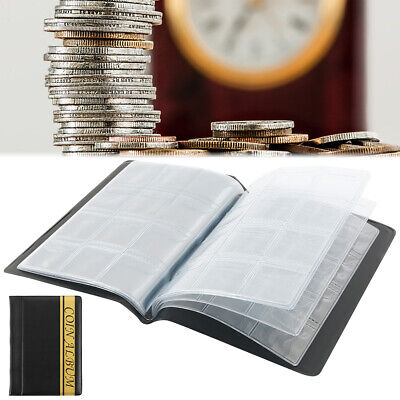 Coin Stock Holder Money Storage Pockets Penny Collection Album Book Collecting.