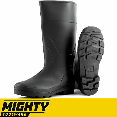 Black Rubber Wellingtons Mucker Mens Ladies Boys Wellies Snow Boots Shoes School