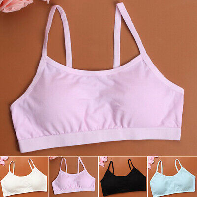 Womens Girls Teenage First Training Bras Soft Breathable Bra Solid Color Vest