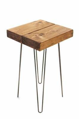 Rustic Side Table 78cm Tall made from solid wood handmade console table
