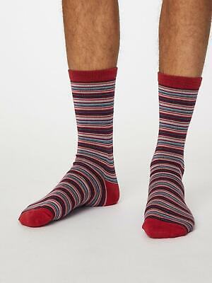 Mens Soft Bamboo Classic Stripe Sock Pack Size 7-11 by Thought