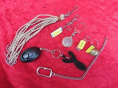 7 Beautiful Small Parts __Keychain_ Kl.lampen, Whistle, Chain
