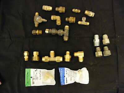 Assorted Flare Fittings - Brass - Gas Plumbing - New - Used - 21 Pc Lot