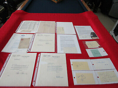 Ephemera Autographs Signatures Lot Senators Congressman & More 20 Pcs