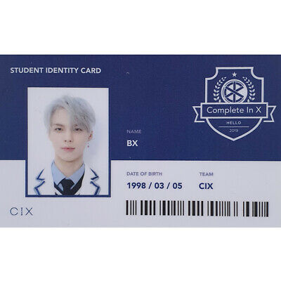 CIX BX Official Student Identity Card 2nd EP Album Hello Version