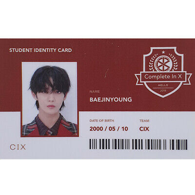 CIX Jinyoung Official Student Identity Card 2nd EP Album Strange Place Version